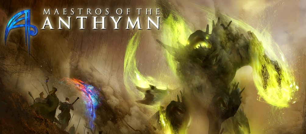 Maestros of the Anthymn is a Kickstarted crowdfunded music focused fantasy adventure game.