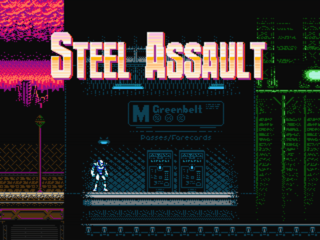 Steel Assault is an old-school style action platformer that's strictly NES style.