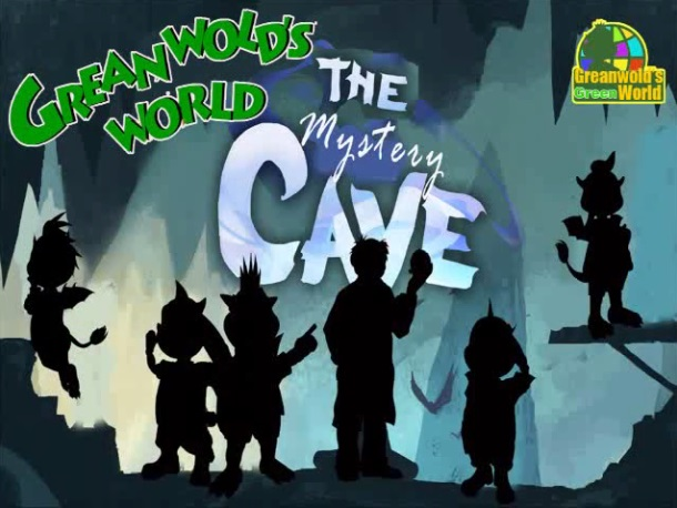 The Greenwold's World logo over the logo for Double FIne Productions The Cave.