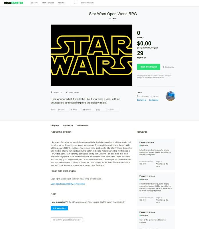 Open World Star Wars RPG
