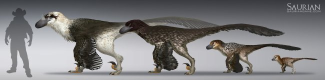 RJ Palmer's concept art for Dakotaraptor in Saurian.