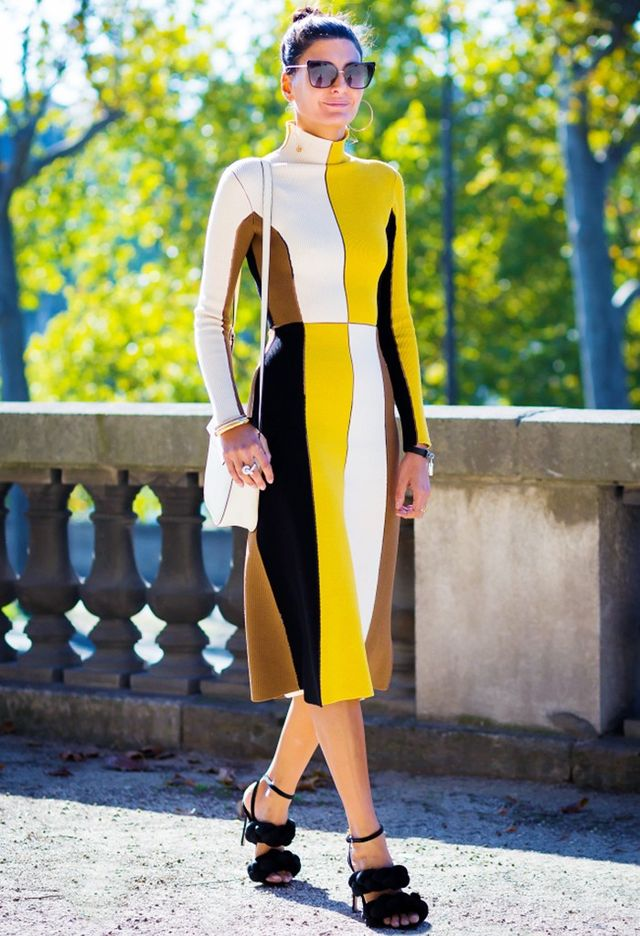 A color-block dress