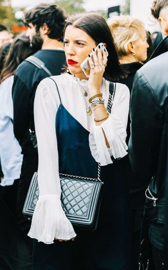 Wearing a bell sleeve top is cute ways to wear slip dresses!
