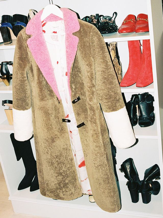 In Roberta's wardrobe: Saks Potts Camel Shearling Colour Block Coat (£1105).