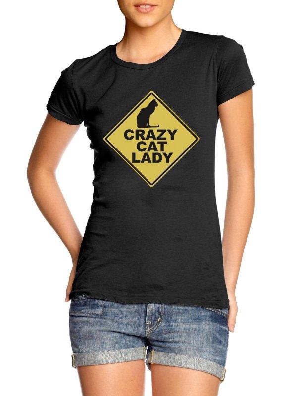 Crazy cat lady t-shirt by Clique Wear