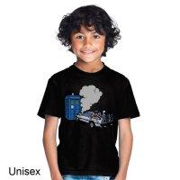 Delorean Crashes into Tardis Dr Who t-shirt by Clique Wear