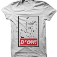 D'oh Homer Simpson Obey t-shirt by Clique Wear