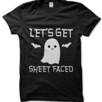 Let's Get Sheet Faced Halloween t-shirt by Clique Wear