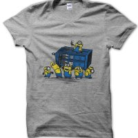 Minions at the Tardis Dr Who t-shirt by Clique Wear