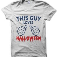 This guy loves Halloween t-shirt by Clique Wear