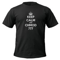 Keep Calm and Chmod 777 t-shirt by Clique Wear