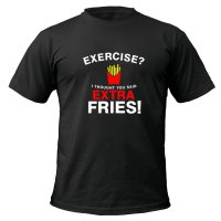 Exercise Extra Fries t-shirt by Clique Wear