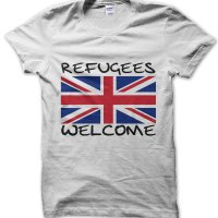 Refugees Welcome t-shirt by Clique Wear