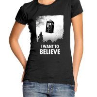 I Want to Believe Tardis t-shirt by Clique Wear
