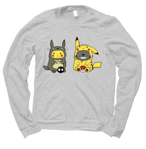 Pikachu Totoro jumper by Clique Wear