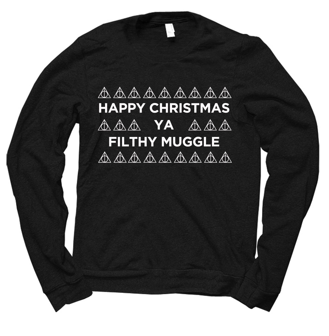 happy christmas ya filthy muggle christmas jumper by clique wear