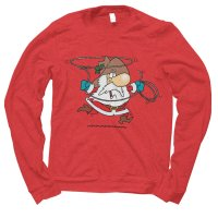 Santa Cowboy Christmas jumper by Clique Wear