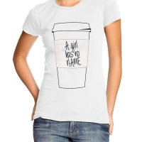 A Girl Has No Name Coffee Cup t-shirt by Clique Wear