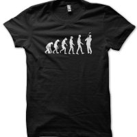 Evolution of a Cricketer Player t-shirt by Clique Wear