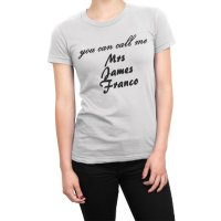 You Can Call Me Mrs James Franco t-shirt by Clique Wear