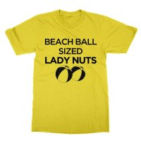Beach Ball Sized Lady Nuts t-shirt by Clique Wear