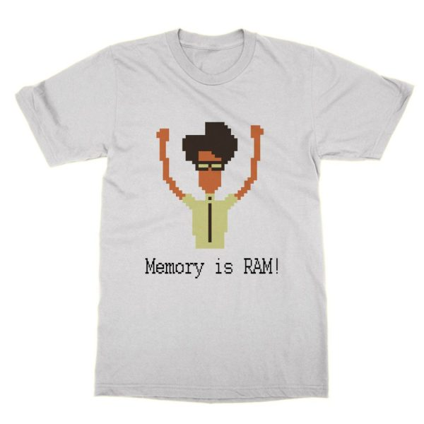 Memory is RAM COURIER FONT t-shirt by Clique Wear