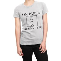 On Paper He's My Type Love Island t-shirt by Clique Wear
