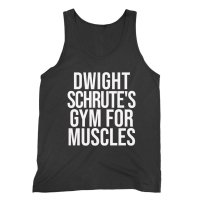 Dwight Schrute's Gym for Muscles vest by Clique Wear
