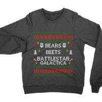 Bears Beets Battllestar Galactica Christmas jumper Sweatshirt by Clique Wear