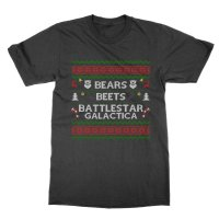 Bears Beets Battllestar Galactica xmas t-shirt by Clique Wear