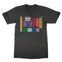 The Periodic Table of Horror Movies t-shirt by Clique Wear