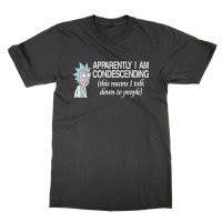 Rick: Apparently I Am Condescending (this means I talk down to people) t-shirt by Clique Wear