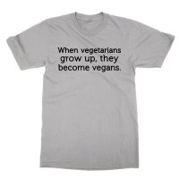 When vegetarians grow up vegans t-shirt by Clique Wear