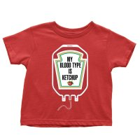 My Blood Type is Ketchup kids t-shirt by Clique Wear