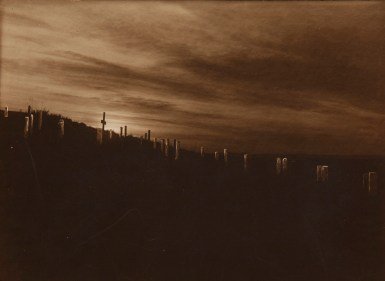 Sunset on Custer Battlefield 1910 Photograph by Richard Throssel
