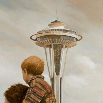 Father and Son in Seattle
