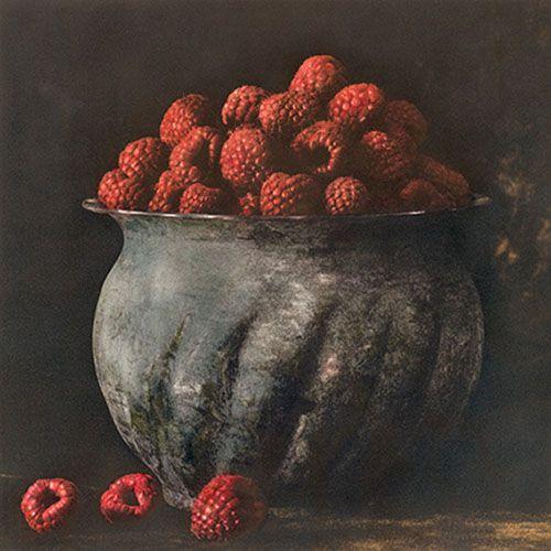 Pot of Raspberries