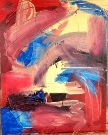 de Kooning-inspired studio exercise titled Macaw, by Carla Bange