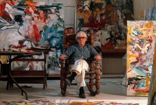 Willem de Kooning in East Hampton Studio, 1977, photographed by Thomas Hoepker