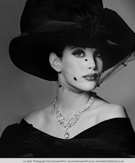 Liv Tyler in a Black Hat