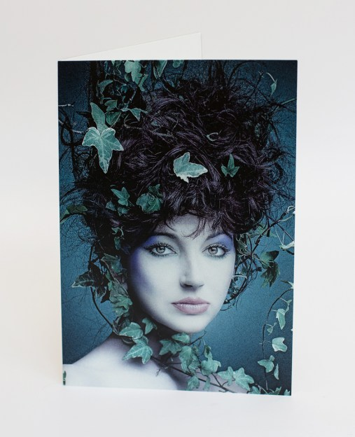 Kate Bush With Ivy Blank Greetings Card A5 by Clive Arrowsmith - 5060634320177
