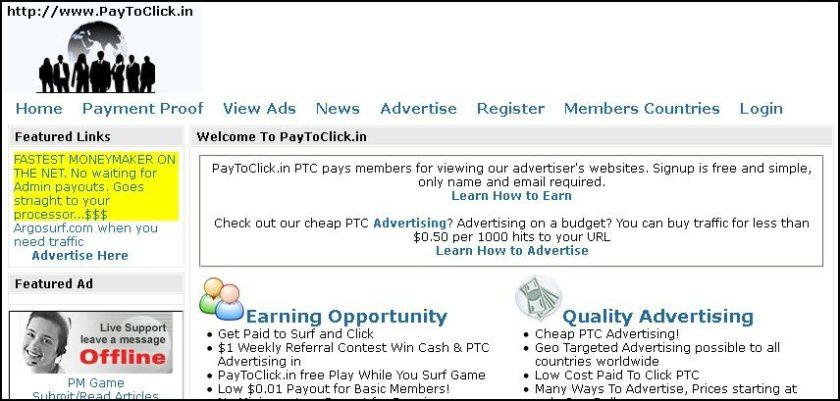 recognize scam ptc sites