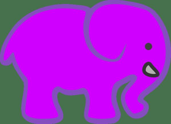Invert Purple Pink Elephant Clip Art At Clker.com