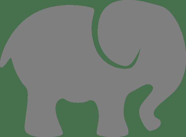 Grey Baby Elephant Clip Art At Clker.com
