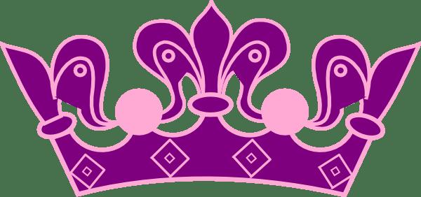 Princess Crown Pink Purple Clip Art At Clker.com