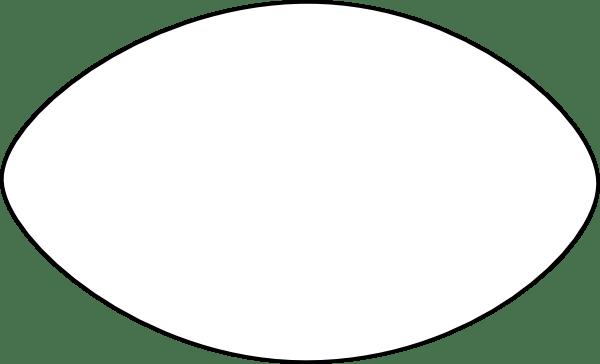 Thin Football Outline Clip Art At Clker.com