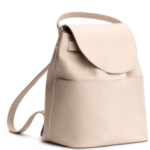 Cuyana Leather Backpack in Blush, $350