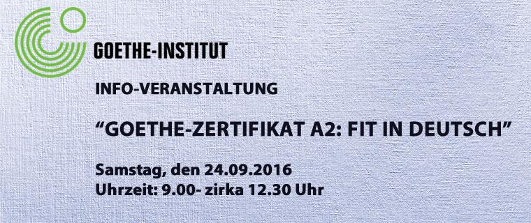 Info Veranstaltung Goethe Zertifikat A2 Fit In Deutsch Clm Bell