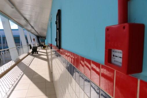 Sistema de emergência contra incêndio instalado em toda a escola