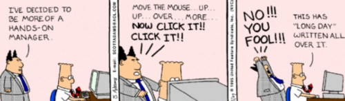 Dilbert Micromanagement Cartoon